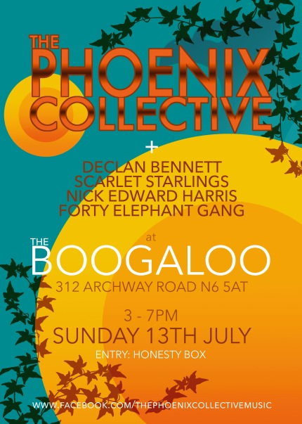 Scarlet Starlings support Phoenix Collective Boogaloo 13/07/14