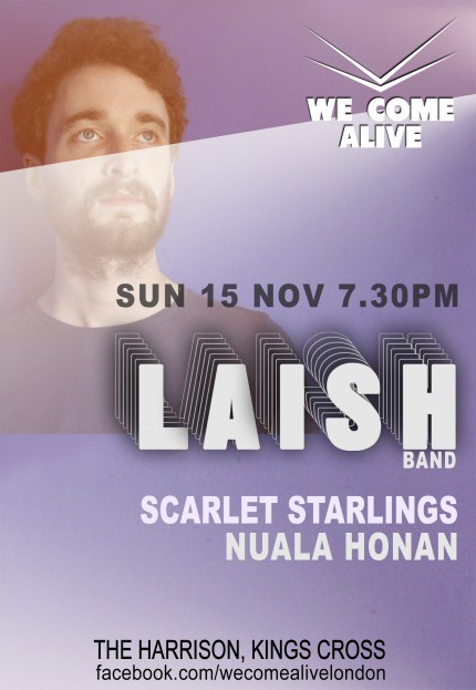 We Come Alive Poster Laish Nov 18 15